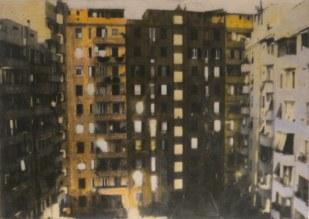 Andrea Aquilanti, Cortile, 2011 Stampa e acrilico su Psb 50 x 70 cm