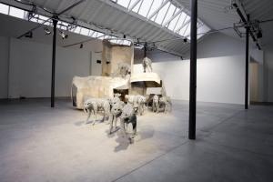 Analgesia di Paolo Grassino, alla mostra Percorso in tre atti. Museo Pecci di Milano. 2012.Foto ZepStudio