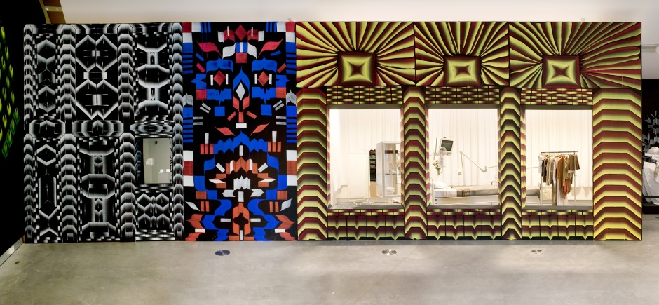 Veduta del wall painting di Gijs Frieling e Job Wouters al MOTI Museum Breda, The Netherlands, 2013