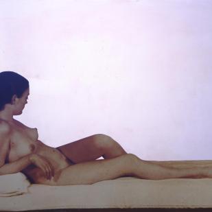 Venere Maria - Nudo Color Seppia, 1962-1974 Serigrafia su acciaio inossidabile lucidato a specchio