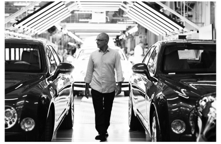 Massimo Uberti photographed in Bentley's Crewe factory