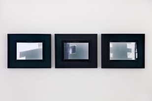 Peter Welz, veduta della mostra Portraits and installations