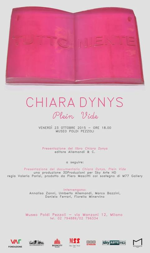 Chiara Dynys: presentazione di Plein Vide presso il Museo Poldi Pezzoli