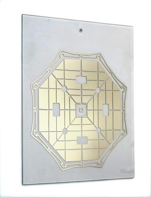 Città ideale - Vasari, 2014. Nitrato d'argento su vetro temperato, 120 x 100 cm.