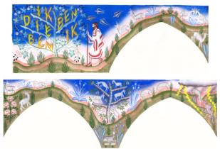 Cartone guida mosaico Gijs Frieling