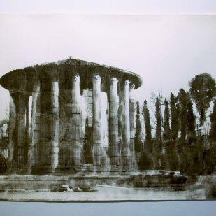 tempio-di-vesta-2007-stampa-e-disegno-su-carta-140x220cm